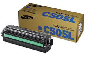 Samsung CLT-C505L OEM Genuine Cyan Toner Cartridge ProXpress C2620DW
