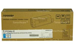 Toshiba TFC34UC OEM Genuine Cyan Toner Cartridge for e-Studio 287CS