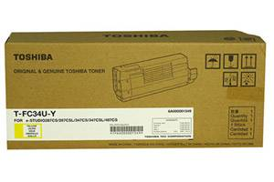 Toshiba TFC34UY OEM Genuine Yellow Toner Cartridge for e-Studio 287CS