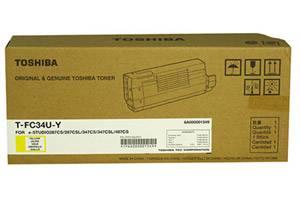 Toshiba TFC34UY OEM Genuine Yellow Toner Cartridge for e-Studio 287CS