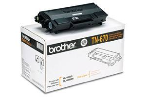 Brother TN-670 [OEM] Genuine Toner Cartridge for HL-6050 HL-6050D