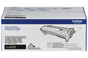 Brother TN-820 OEM Genuine Standard Yield (3K) Toner Cartridge