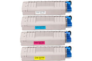 Okidata Black & Color Compatible Toner Cartridge Set for C711dn C711n