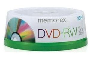 Memorex 05562 4.7GB DVD-RW 25PK Spindle