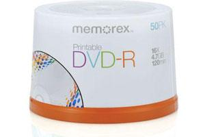 Memorex 05639 16X 4.7GB DVD-R 50PK Spindle