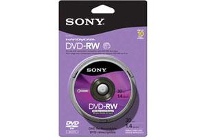 Sony 10DMW30RS2H 1.4GB DVD-RW Single Layer 10PK Spindle