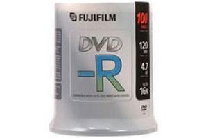 Fuji 15654612 16X 4.7GB White Thermal Hub Printable DVD-R 100PK Spindle