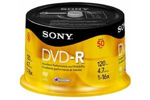 Sony 50DMR47SP 16X 4.7GB DVD-R 50PK Spindle