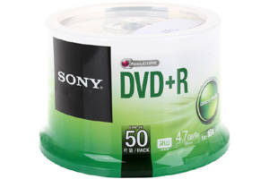 Sony 50DPR47SP 16X 4.7GB DVD+R 50PK Spindle