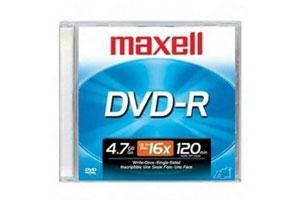 Maxell 638000 16X 4.7GB DVD-R 1PK Jewel Case
