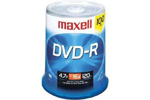 Maxell 638014 16X 4.7GB DVD-R 100PK Spindle