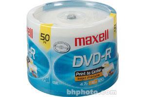 Maxell 638022 16X 4.7GB White Matte Inkjet Printable DVD-R 50PK Spindle