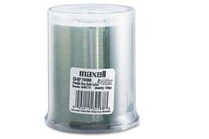 Maxell 648710 48X 700MB 80min Silver Matte Inkjet Printable CD-R 100PK Spindle