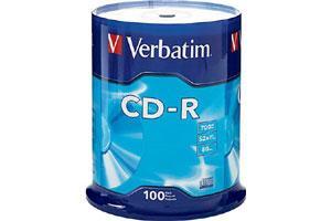 Verbatim 94554 52X 80Min 700MB CD-R 100PK Spindle