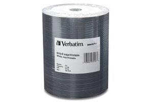Verbatim 94907 8X 4.7GB White Thermal Printable MediDisc DVD-R 50PK Spindle