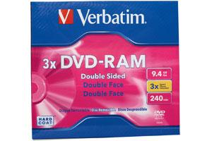 Verbatim 95003 3X 9.4GB R/W DVD-RAM 1PK Jewel Case