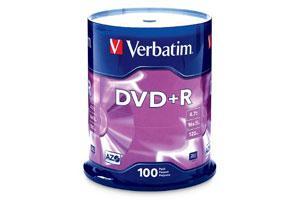 Verbatim 95098 16X 4.7GB DVD+R 100PK Spindle