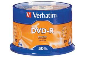 Verbatim 95101 16X 4.7GB DVD-R 50PK Spindle