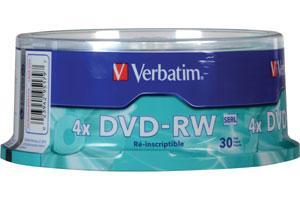 Verbatim 95179 4.7GB DVD-RW 30PK Spindle
