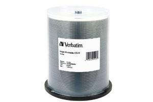 Verbatim 95256 52X 700MB 80min Silver Inkjet Printable CD-R 100PK Spindle