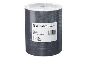 Verbatim 97015 16X 4.7GB White Thermal Hub Printable DataLIfe DVD-R 100PK Spindle