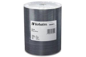 Verbatim 97020 52X 700MB 80min Shiny Silver CD-R 100PK Spindle