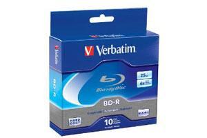Verbatim 97238 BD-R 6X 25GB Write Once Single Layer Blu-ray 10PK Spindle