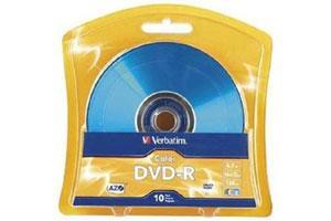 Verbatim 97513 16X 4.7GB DVD-R 10PK Spindle AZO Vibrant 5 Color