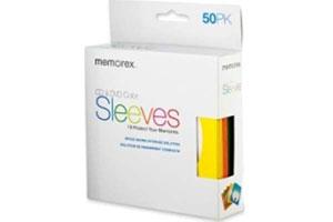 Memorex 01965 Color CD/DVD Sleeves 50pk