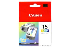 Canon BCI-15 Color (2 Pk) OEM Genuine Ink Tank for i70 i80 Pixma iP90v