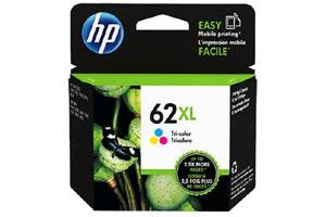 HP C2P07AN (#62XL) Tri-Color High Yield OEM Genuine Ink Cartridge