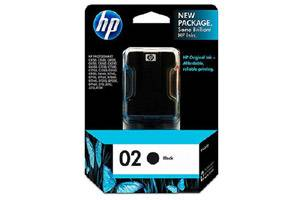 HP C8721WN (#02) Black OEM Genuine Ink Cartridge