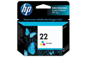 HP C9352AN (#22) Tri-Color OEM Genuine Inkjet Cartridge