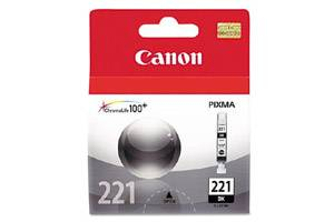 Canon CLI-221 Black OEM Genuine Ink Tank for Pixma iP3600 iP4600 MP640 MP980 MX860