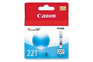 Canon CLI-221 Cyan OEM Genuine Ink Tank for Pixma iP3600 iP4600 MP640 MP980 MX860