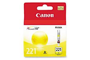 Canon CLI-221 Yellow Original Ink Tank for Pixma iP3600 iP4600 MP640 MP980 MX860