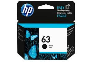 HP F6U62AN #63 Black OEM Genuine Ink Cartridge for 3830 4650 4520
