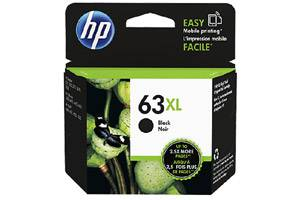 HP F6U64AN #63XL Black High Yield OEM Genuine Ink Cartridge