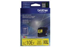 Brother LC10EY Yellow OEM Genuine Super High Yield Ink Cartridge