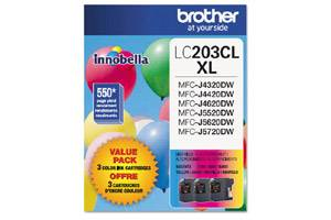 Brother LC2033PKS OEM Genuine C/Y/M 3-Color Ink Cartridge Pack