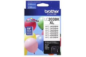Brother LC203BK OEM Genuine Black Ink Cartridge for MFC-J4320DW
