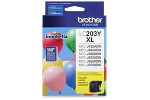 Brother LC203Y OEM Genuine Yellow Ink Cartridge for MFC-J4320DW