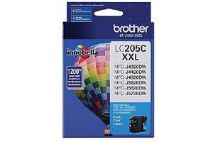 Brother LC205C OEM Genuine Cyan Ink Cartridge for MFC-J4320DW J5720DW
