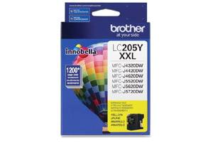 Brother LC205Y OEM Genuine Yellow Ink Cartridge MFC-J4320DW J5720DW