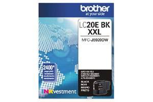 Brother LC20EBK Black OEM Genuine Super High Yield Ink Cartridge