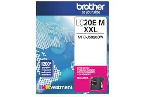 Brother LC20EM Magenta OEM Genuine Super High Yield Ink Cartridge