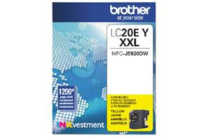 Brother LC20EY Yellow OEM Genuine Super High Yield Ink Cartridge