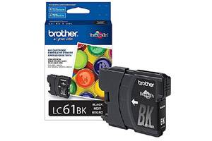 Brother LC61BK OEM Genuine Black Ink Cartridge for DCP-165 585 6690 MFC-290 5890 790 990