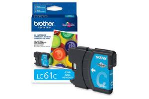 Brother LC61C OEM Genuine Cyan Ink Cartridge for DCP-165 585 6690 MFC-290 5890 790 990