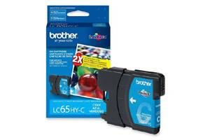 Brother LC65 High Yield Cyan OEM Genuine Ink Cartridge for DCP-6690 MFC-5890 6490 6890